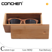 100% Natural Bamboo Wood custom zebra glasses frames folding sunglasses case Grove Sunglasses Cases and boxes