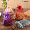 Multifunctional cheap drawstring gift organza bags wholesale
