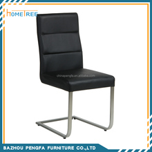 Modern Brushed Stainless Steel Leg Dining Chair/Dining Room Furniture