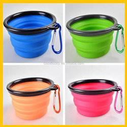 Wholesale Colorful Silicone plastic dog travel waterproof bowl for pet dogs cat