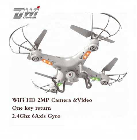 DWI Dowellin White Race Wifi skyline RC Fpv Quadcopter Drone with HD Camera Professional