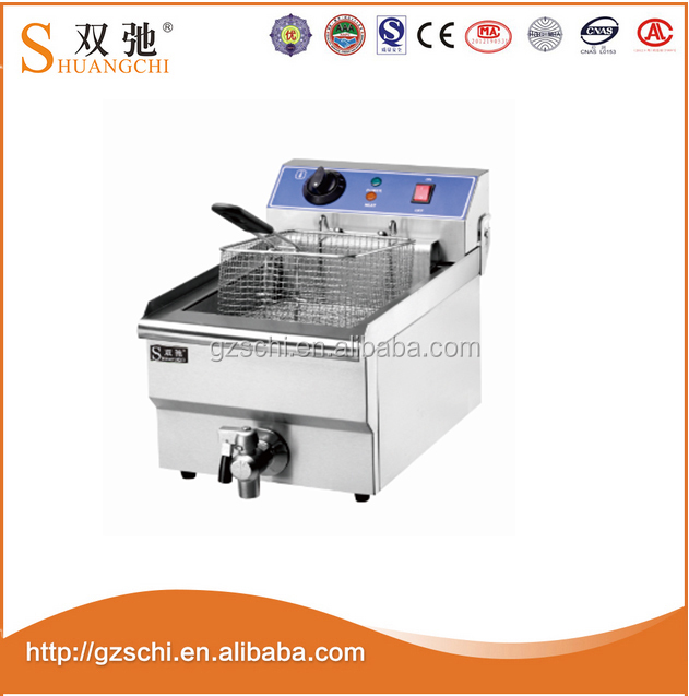 Food stir KFC chicken deep fried with 8L stainless steel electric potato chips fryer machine