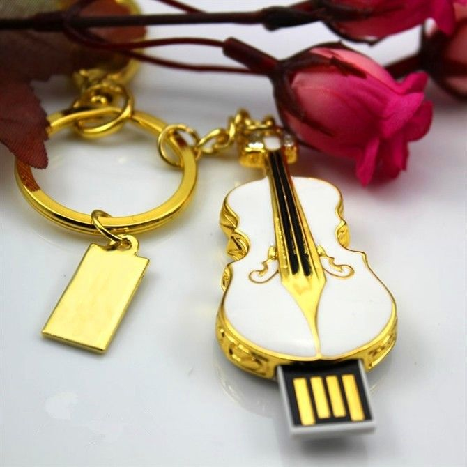 Crystal Jewelry Violins model 2GB usb 2.0 memory flash stick pen drive
