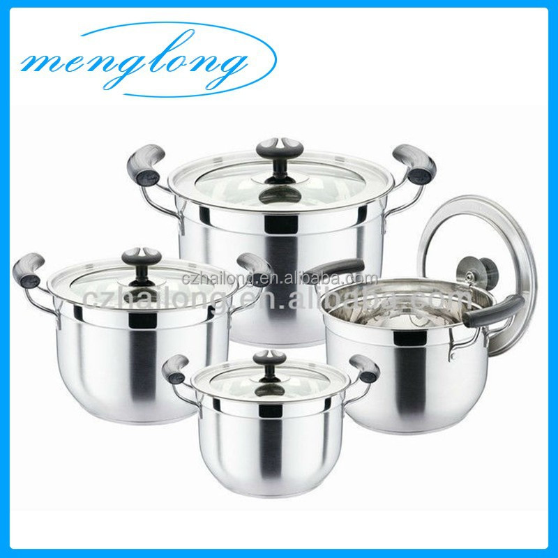 8pcs Korean Cooking Pot Stainless Steel Soup Pot Set Korean Cookware
