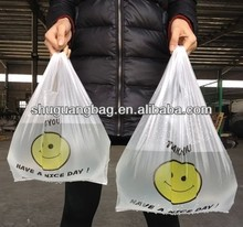cheap hdpe shopping bag plastic t-shirt bag supermarket bag