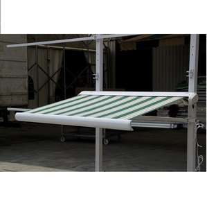High Quality Remote Control Full Cassette Retractable Folding Arm Awning