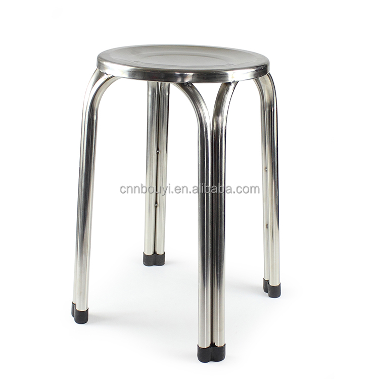 factory price 19 inches height 4 feet stainless steel stool