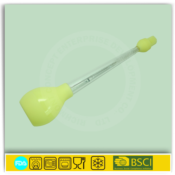 With needle and cleaning durable turkey baster