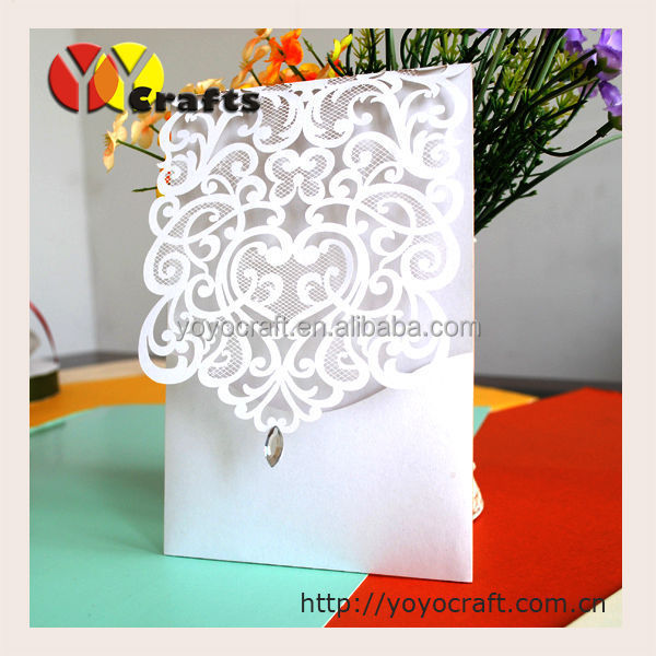 2017 Hot sell laser cut hollow birthday or wedding invitation card