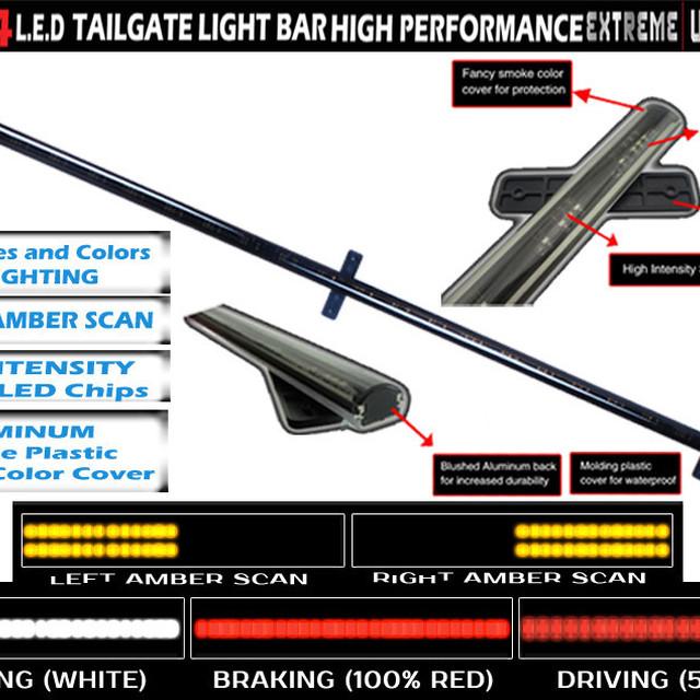 Truck SUV Rear Brake Signal Sealed LED Function 49 inch 60 inch Tailgate Light Bar/atv led brake light/reverse led light tail