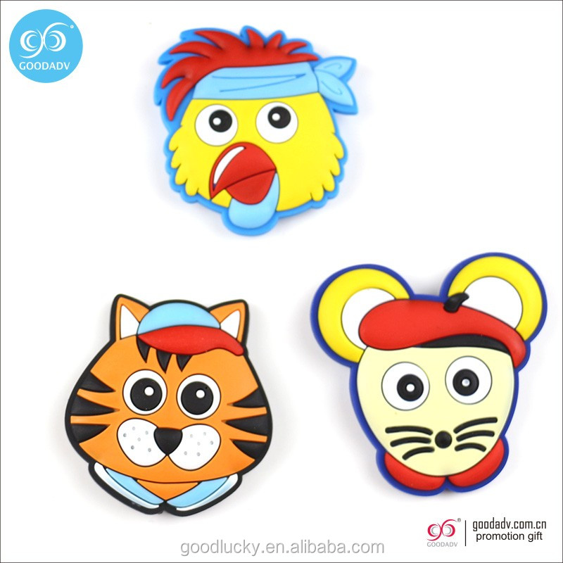 Home decor promotion 3d custom cartoon shape soft pvc fridge magnet