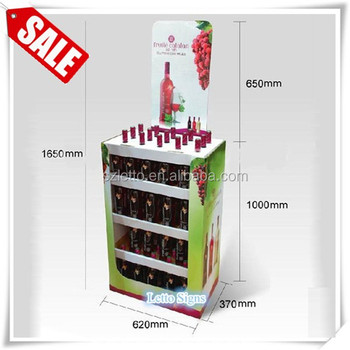 Cardboard Wine Floor Display Stand
