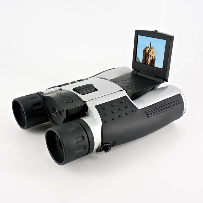 2016 Factory price high quality long distance telescope 12MP binocular telescope camera with 2.0'' screen video recording