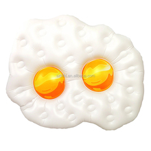 Pool Parties novelty giant fried eggs Swim Raft Inflatable
