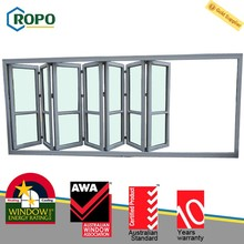 Weather Resistant uPVC/PVCU Double Glazed Folding Glass Windows And Doors