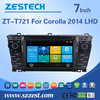 Windows CE 6.0 system 7 inch 2 din car headunit for Toyota corolla 2014 lhd car dvd player with car gps player GPS DVD AM/FM