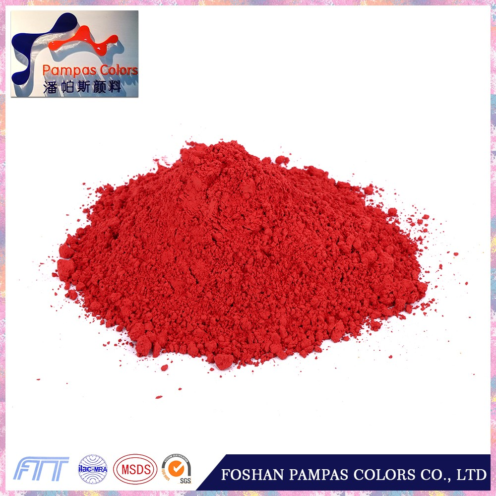 Pampas 2016 Top Seller bright Red mosaic glass pigment for enamel