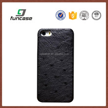 New arrival OEM Genuine Ostrich skin leather phone case for iPhone 6/6s