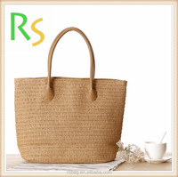Top quality Beautiful sea grass straw beach bag recycled straw bag