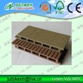 co-extrude embossed WPC decking panel plank
