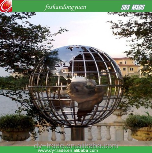1500mm stainless steel rack ball with world map