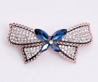 colorful rhinestone luxury hair clips with spring clip