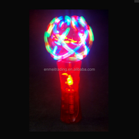 Flashing LED Magic 360 Degree Crystal Spinning Plastic Light Up Christmas Wand toy