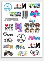 Free shipping wholesale 5000sheets A4 temporary tattoo sticker movie stars concert supply stickers gift for 2PM fans