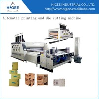 Automatique impression et coupage die-cutting and slotting machine for carton box making equipment