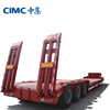 CIMC Excavator Carrier Low Flat Bed Truck Semi Trailers 60 Ton