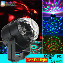 New design led disco light Sound Control Car dj party light with USB cable