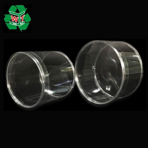 Custom clear plastic cylinder container/gift plastic round box/plastic cylinder