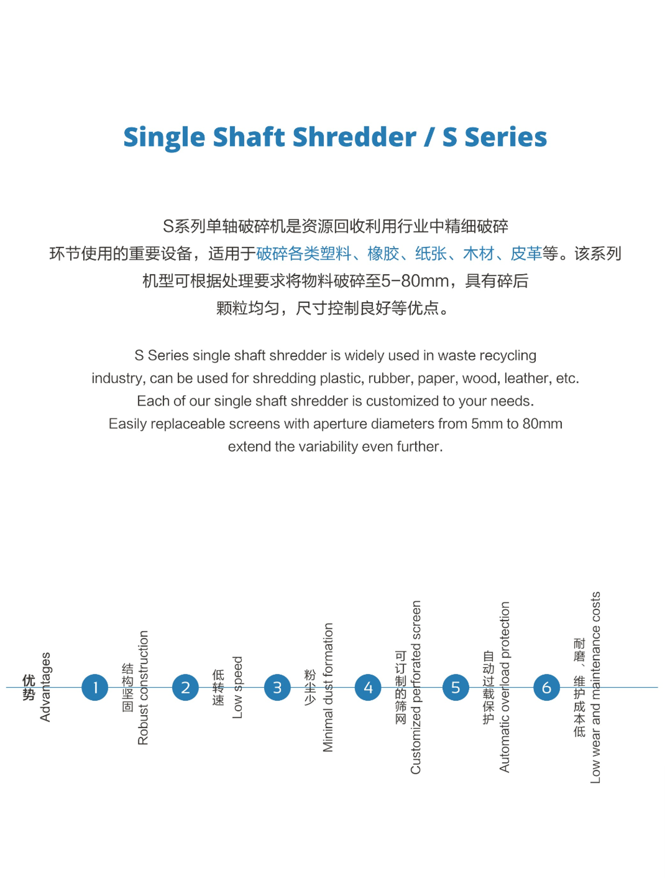 S800 Single Shaft Shredder