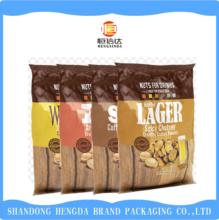 food grade 3 side sealed laminated plastic packing bags for nuts
