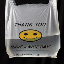 Customized Printed food plastic carrier T-shirt bag for shopping