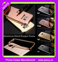 JESOY Luxury Electroplated Metal Mirror Aluminum Bumper Case for Samsung Galaxy S7 S5 S6 S4 S3