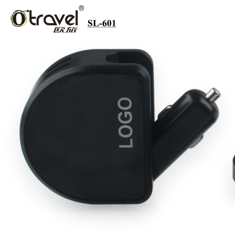 Newest Otravel LED shinning 2.4A dual USB electric car charger