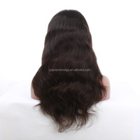 Black Women Natural Color Unprocessed Virgin Lace Front Human Hair Topper Wig