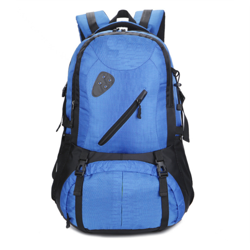 Factory wholesale customized logo and print logo camping 40 L pure color hiking backpack