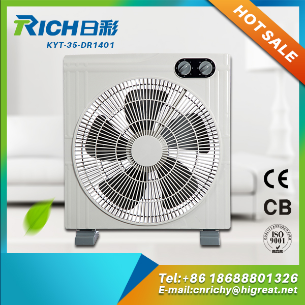"metal blade plastic safety industrial 20"" box fan"