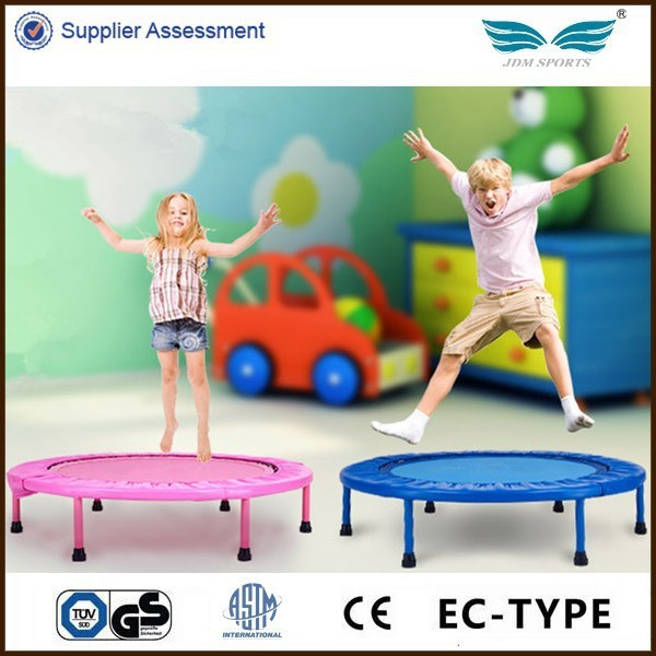 High quality kids pink mini trampoline whitout bar for sale