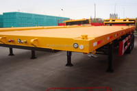 china 3 axles 40ft container semi trailer widely used new condition low flatbed container semi-trailer