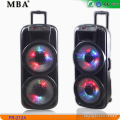 Active trolley battery speaker with led light