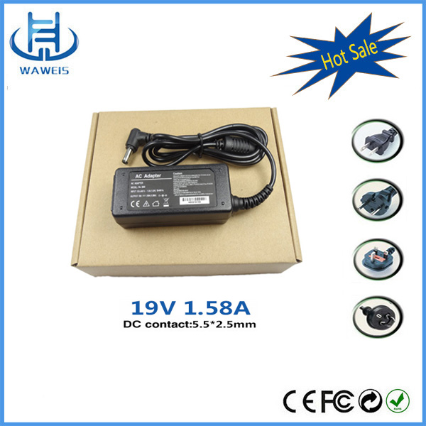 Interface size 5.5*2.5mm 19v 1.58a ac dc adaptor for personal computer