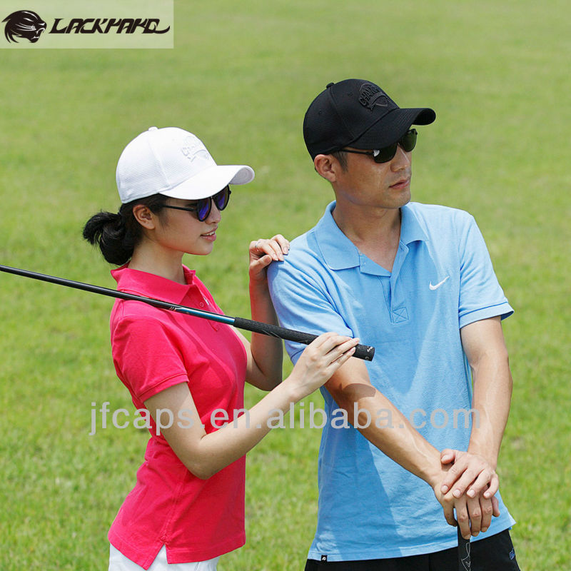 Elastic golf polyester fabric sports baseball caps and hats