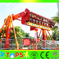 outdoor amusement thrilling park LED spinning top rides Top Spin