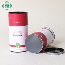 Custom gift paper cylindrical tube box cardboard tea cylinder packaging box