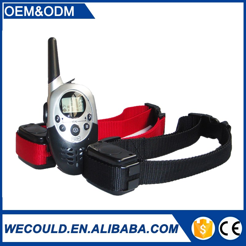 China Professional Manufacturer supply dog training collar with 1000m remote and Charger collar for 2 dogs