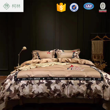 hotsale apartment use Thick cotton camouflage printed home boy bedding sets