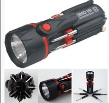 8 in 1 portable magnetic tool flashlight multi LED light screwdriver